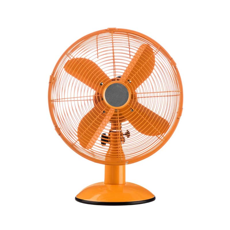 Desk Fan,3 Speeds/Oscillation, Orange