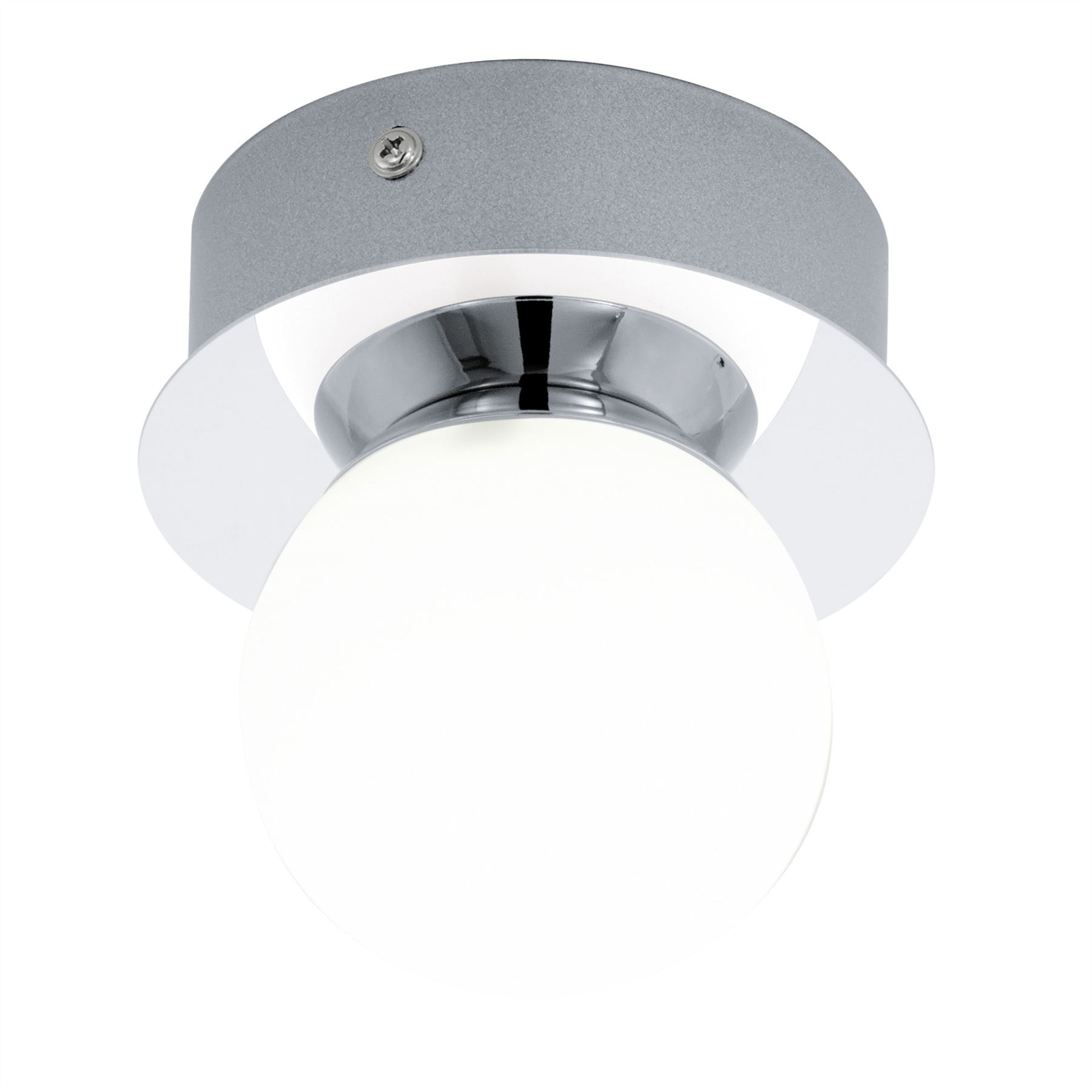 Mosiano LED Wall Light/Ceiling Light 1x 3.3W Stainless Steel Chrome