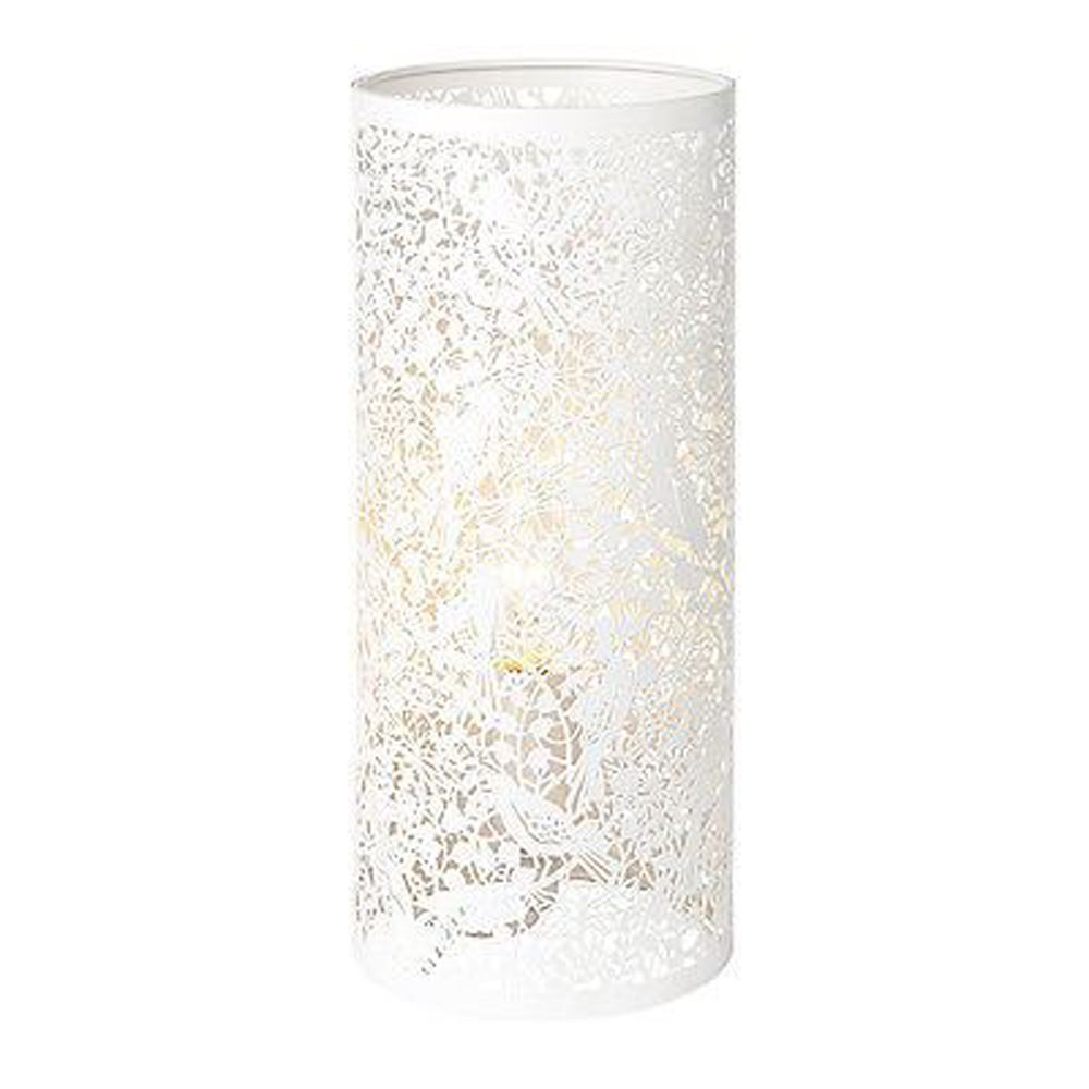 Decorative Secret Garden Table Lamp Matt Ivory Paint