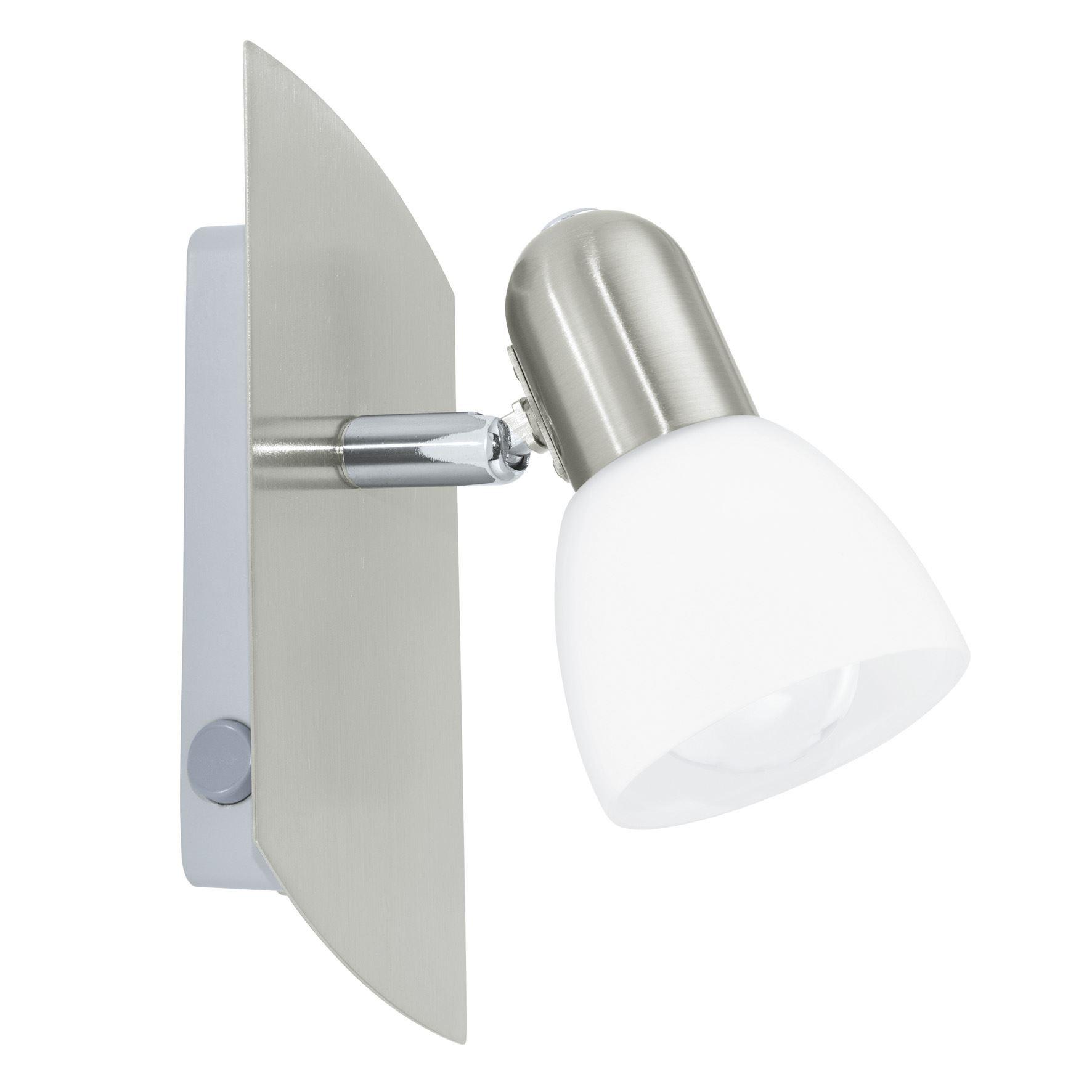 Enea Wall Spot Light E14 Glass White Shade Rocker Switch