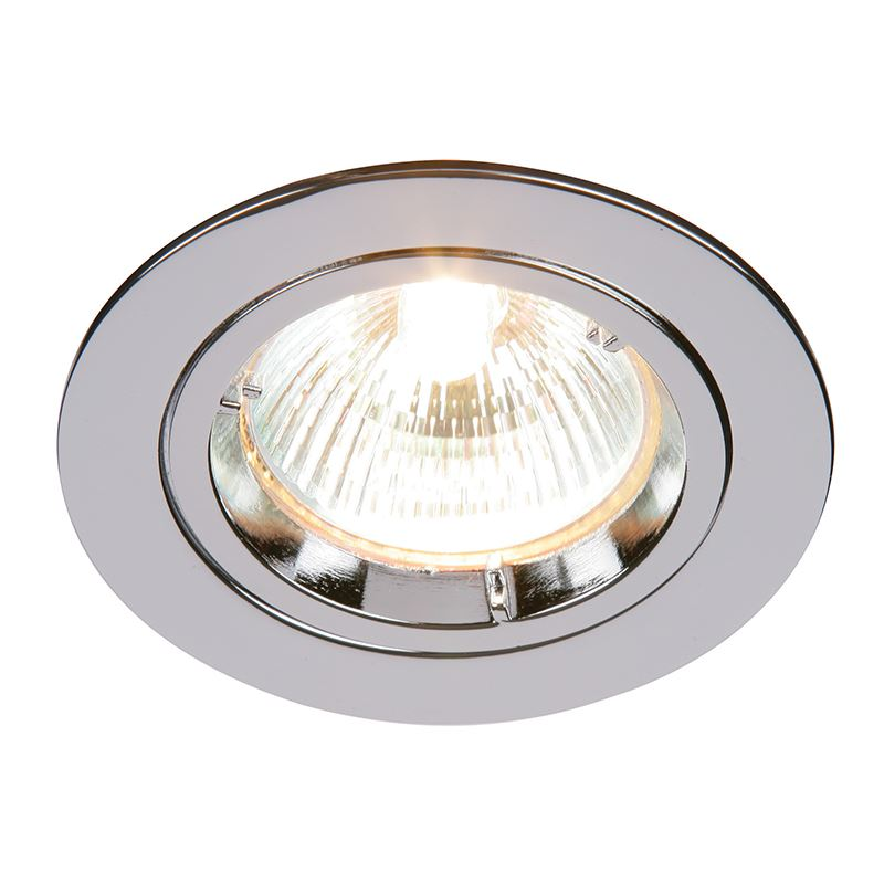 Cast fixed 50W recessed light chrome plate