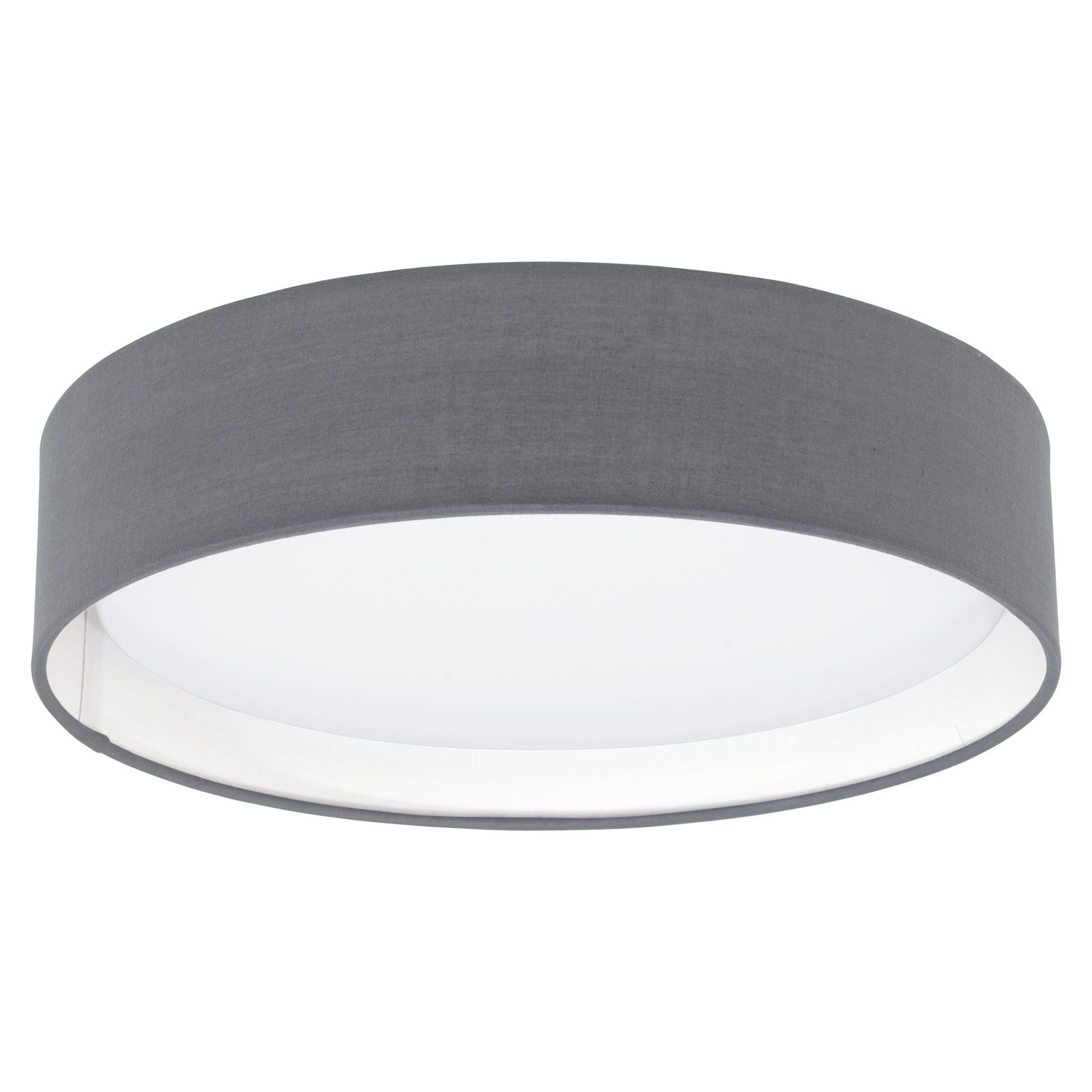 PASTERI LED Modern Ceiling Light Plastic Steel Fabric Grey-Matt Shade