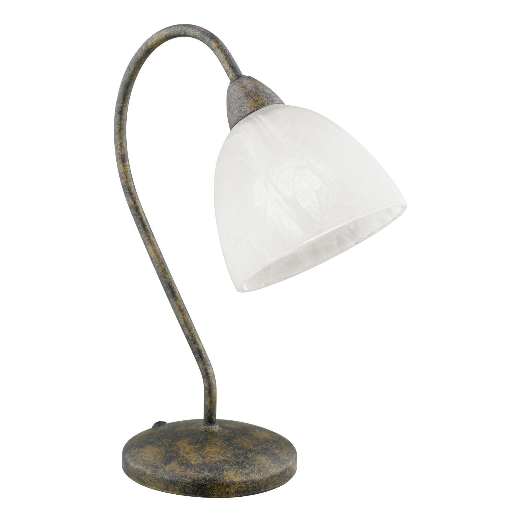 Dionis Traditional Steel Table Lamp 1 Light Rust-Colored