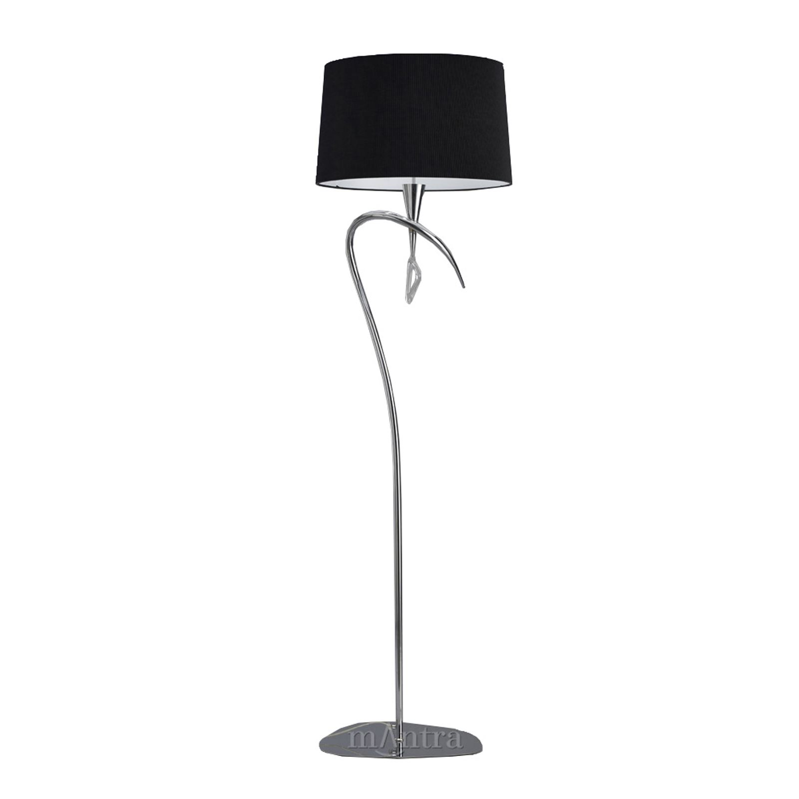 Mara Floor Lamp 1 Light Polished Chrome/Black