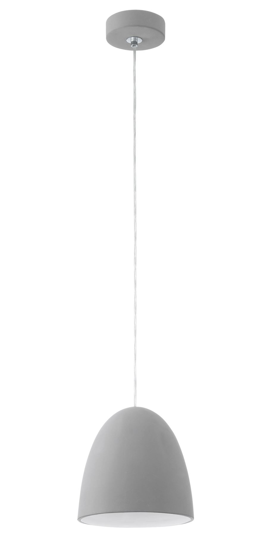 Pratella Modern Pendant 1 Hanging Light E27 Ceramic Grey