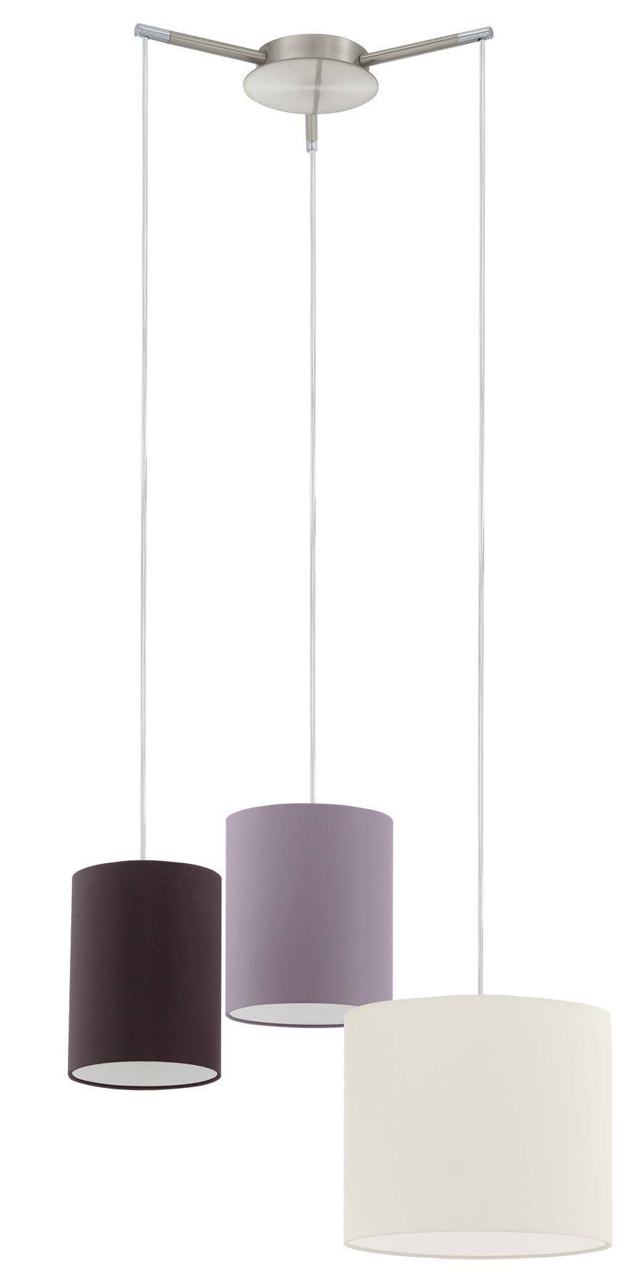 Tombolo 3 Hanging Light Cream, Taupe, Brown Shade