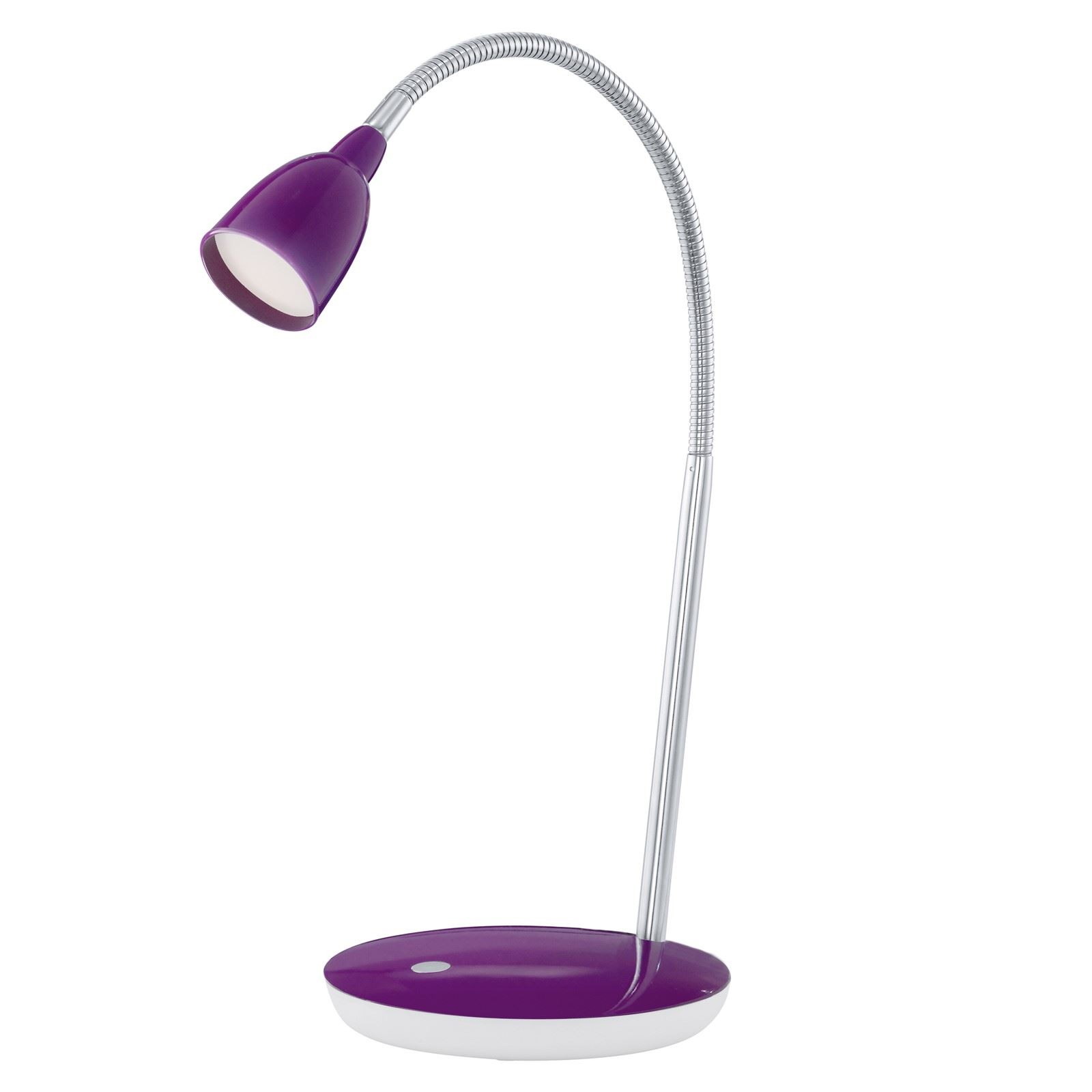 Durengo Plastic Steel Led-Table Lamp Purple Chrome Finish