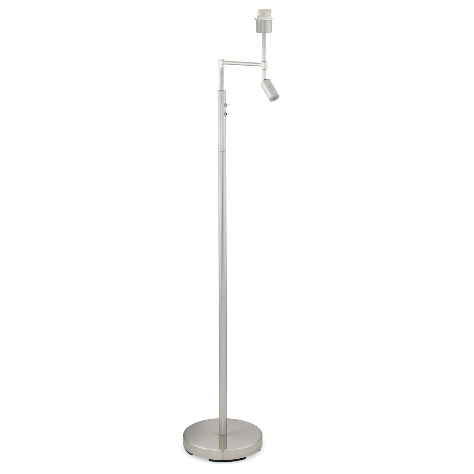 Berson Modern Steel Floor Lamp Satin Nickel 5 Years Warranty