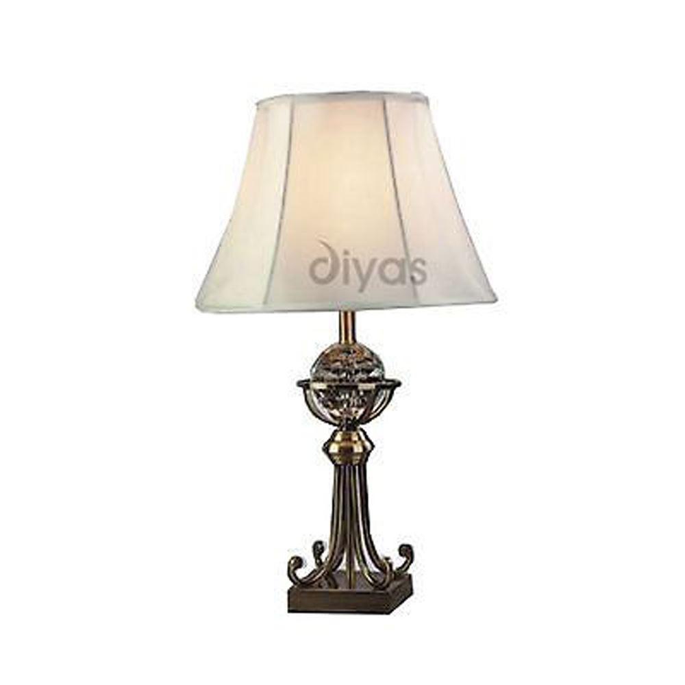 Large Crystal Designer Table Lamp 1 Light - Bedside Lighting Decor