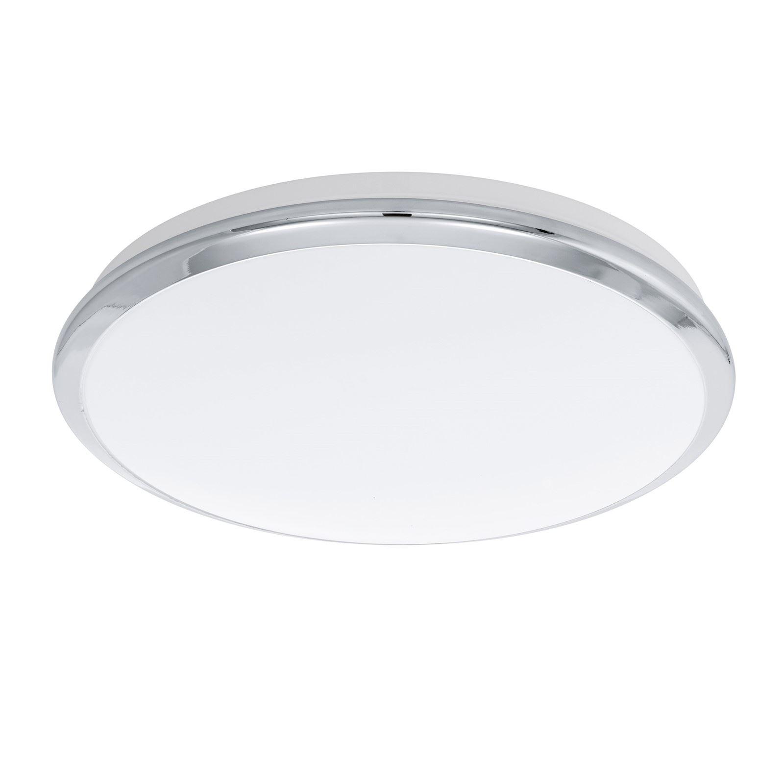 Manilva LED Ceiling Light 12W Diameter 385 mm Steel Chrome White