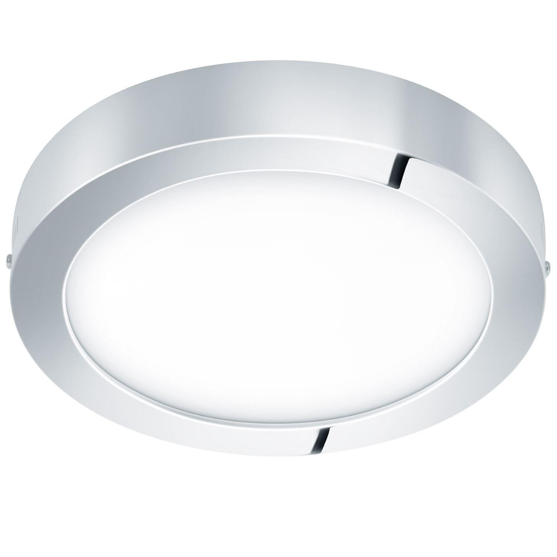 Fueva Led Ceiling Light Metal Cast Chrome Bathroom Lighting