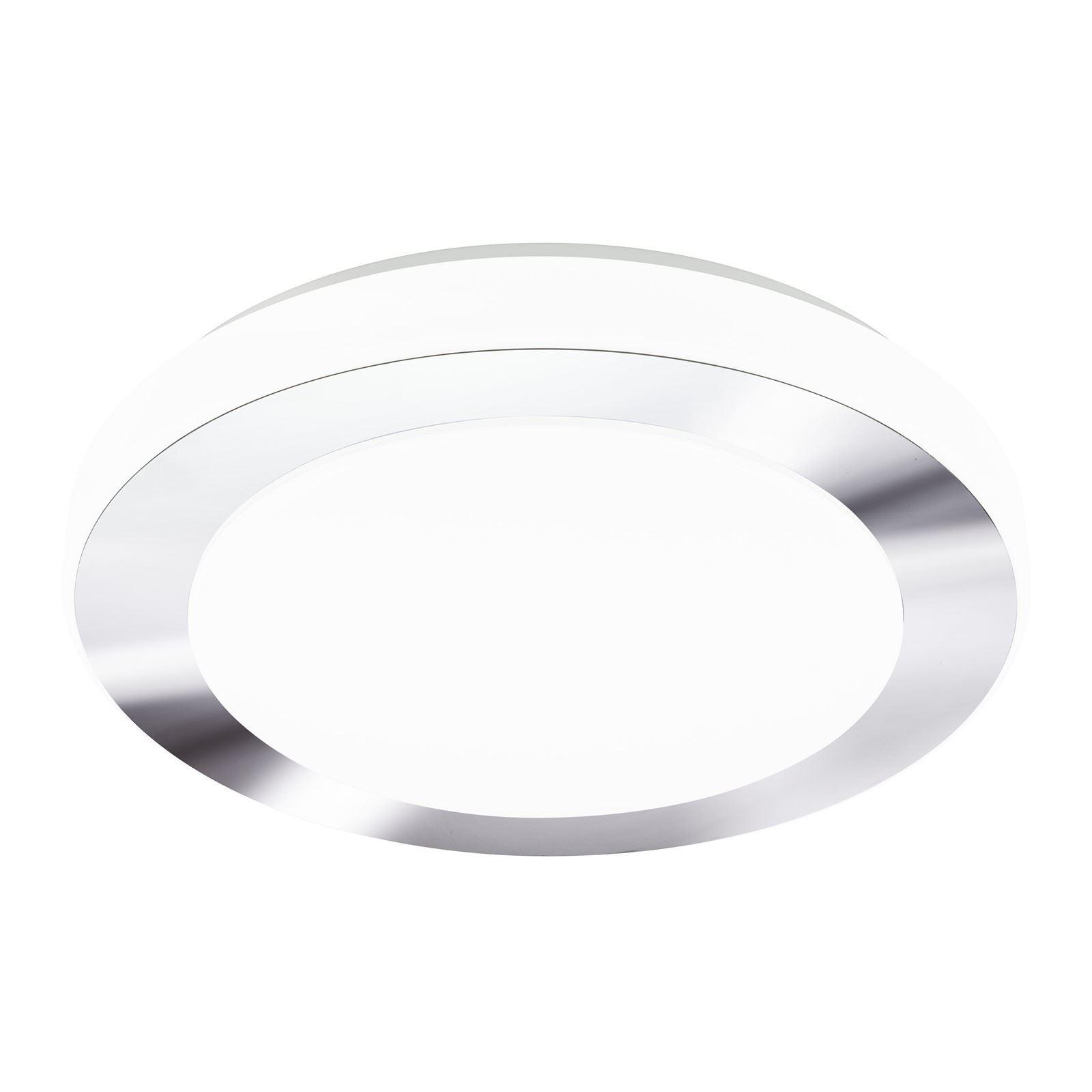 Led Carpi Ceiling Light Dia 385mm White Chrome Plastic White Shade