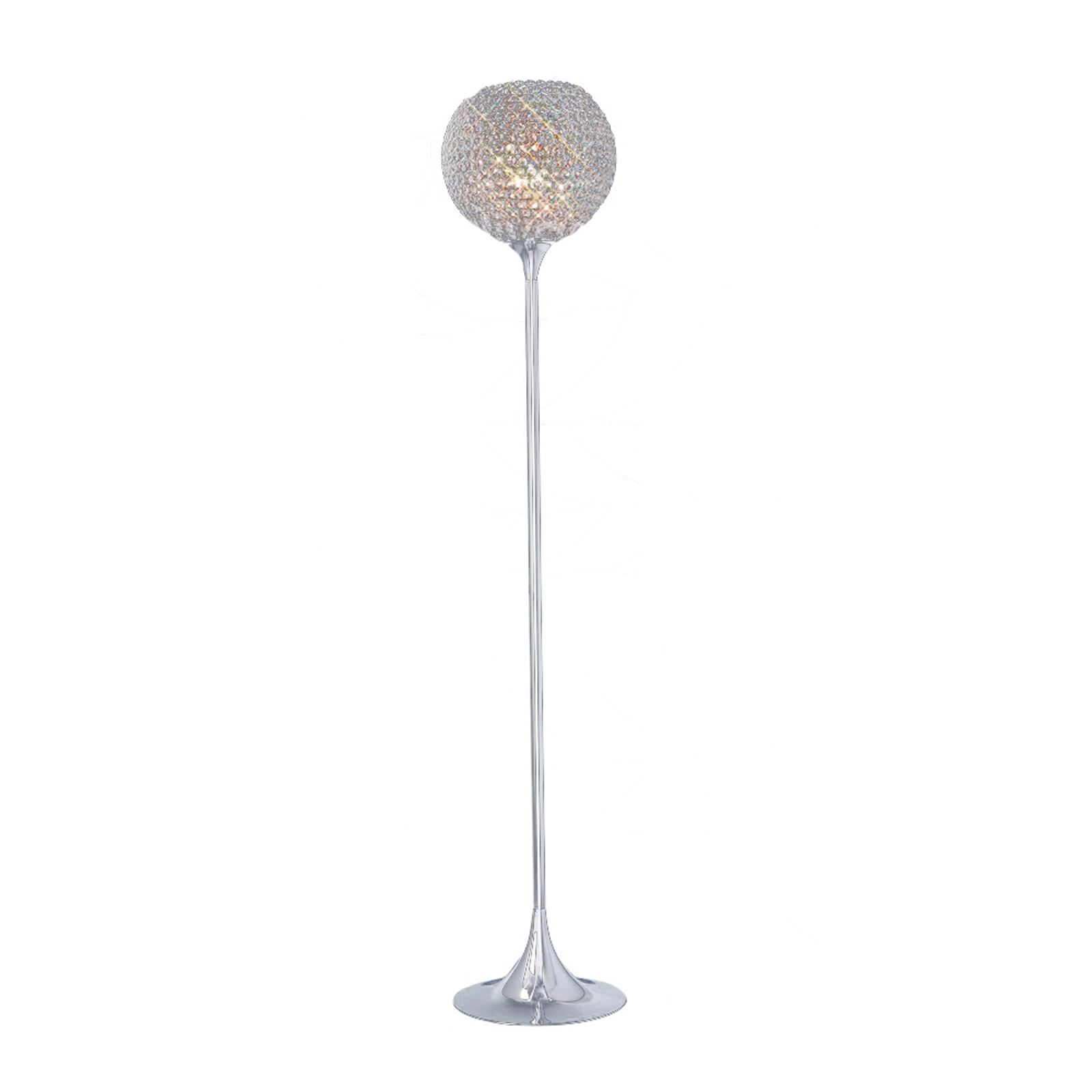 Ava Floor Lamp 5 Light Polished Chrome/Crystal