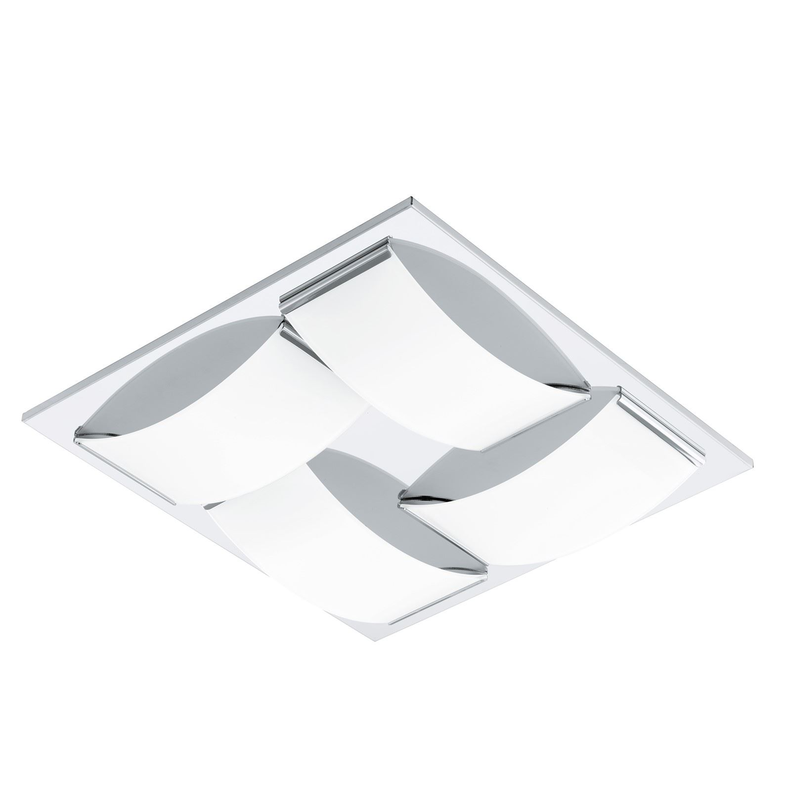 Wasao LED Wall Light/Ceiling Light 4x 5.4W Stainless Steel Chrome White