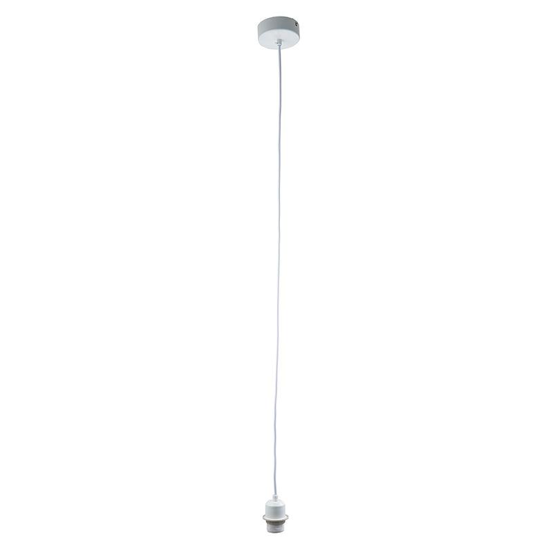 Cable set 60W pendant gloss white paint