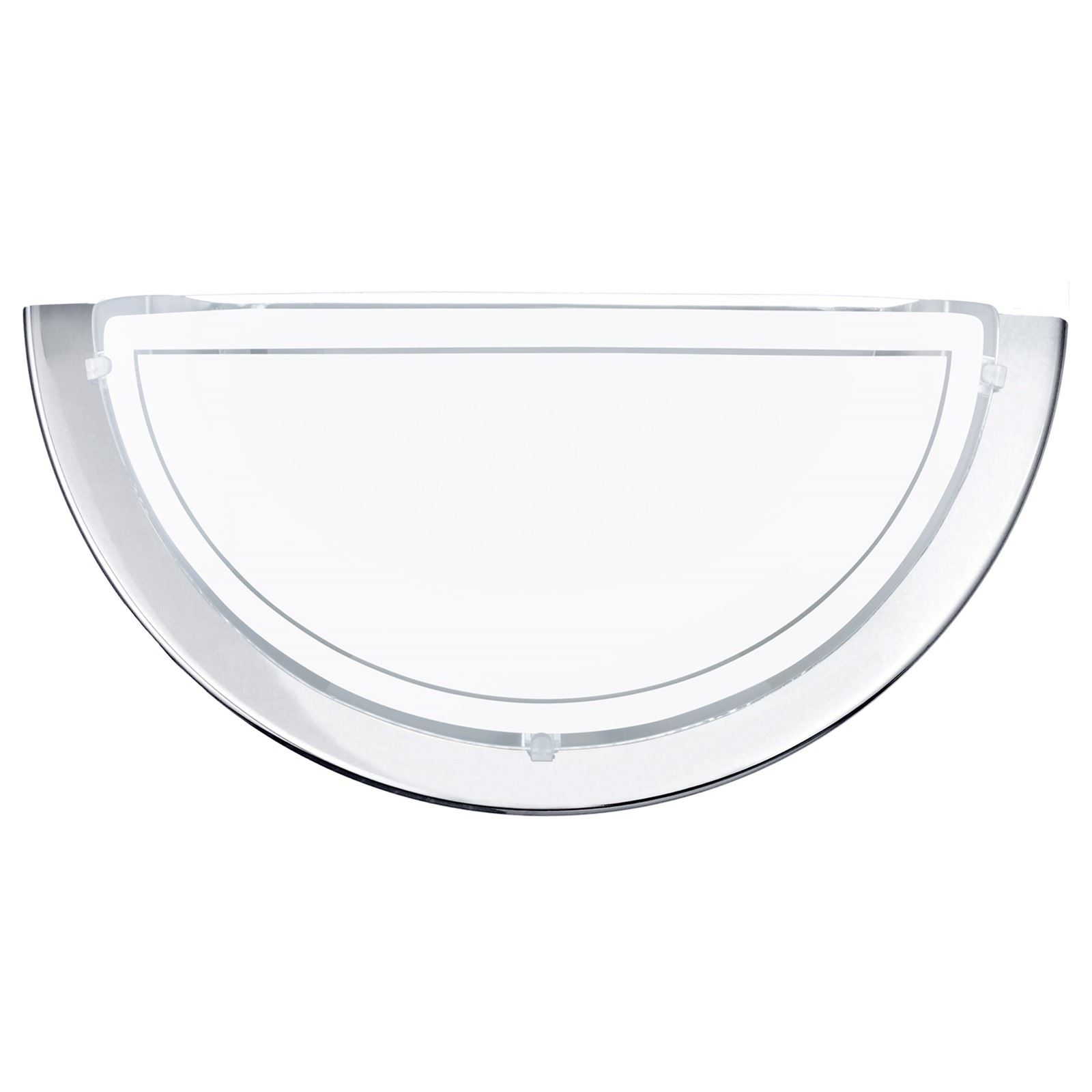 Planet 1 Wall Light Chrome Glass Shade
