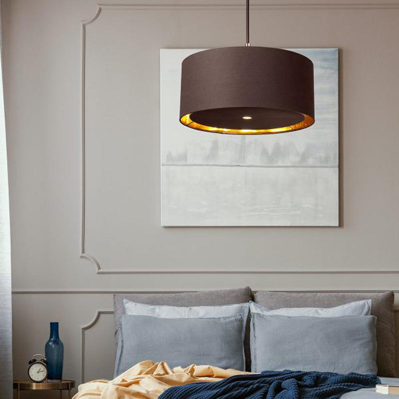 Balance 1 Light Floor Lamp - Brown and Polished Brass