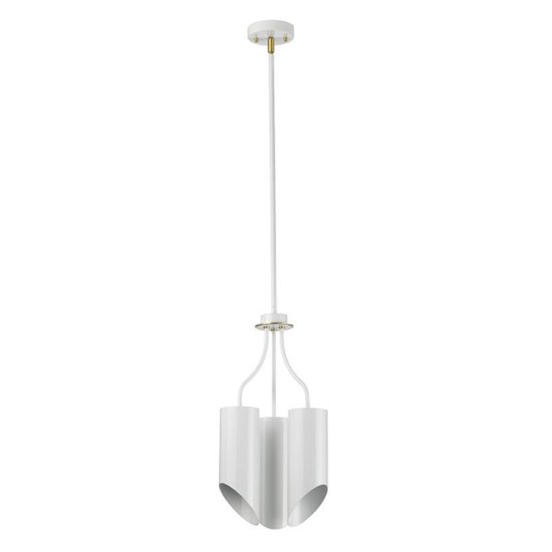 Quinto 1 Light Floor Lamp - White Aged Brass