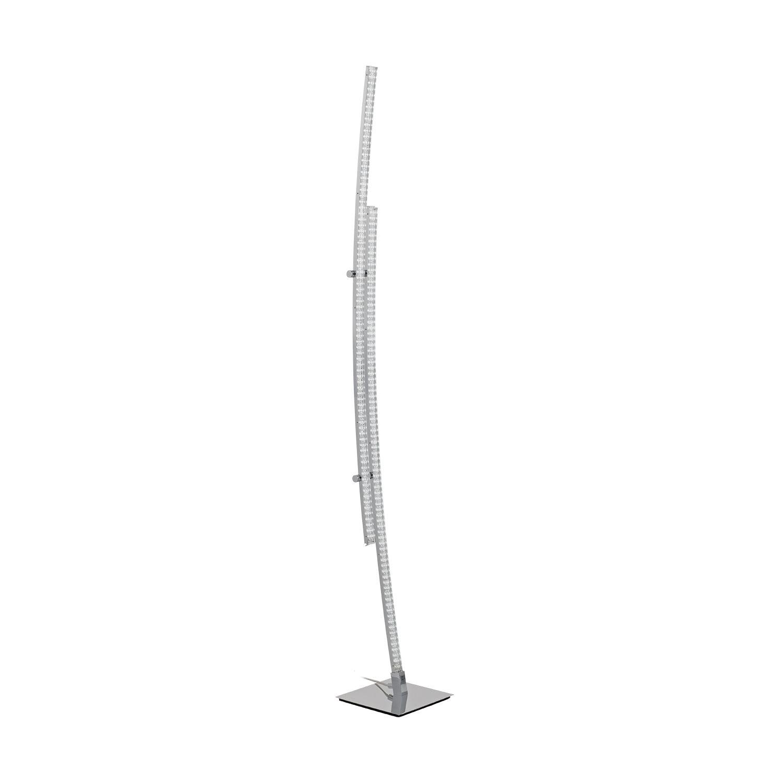 Pertini Led Floor Lamp Steel Aluminium Chrome Foot Pedal Switch