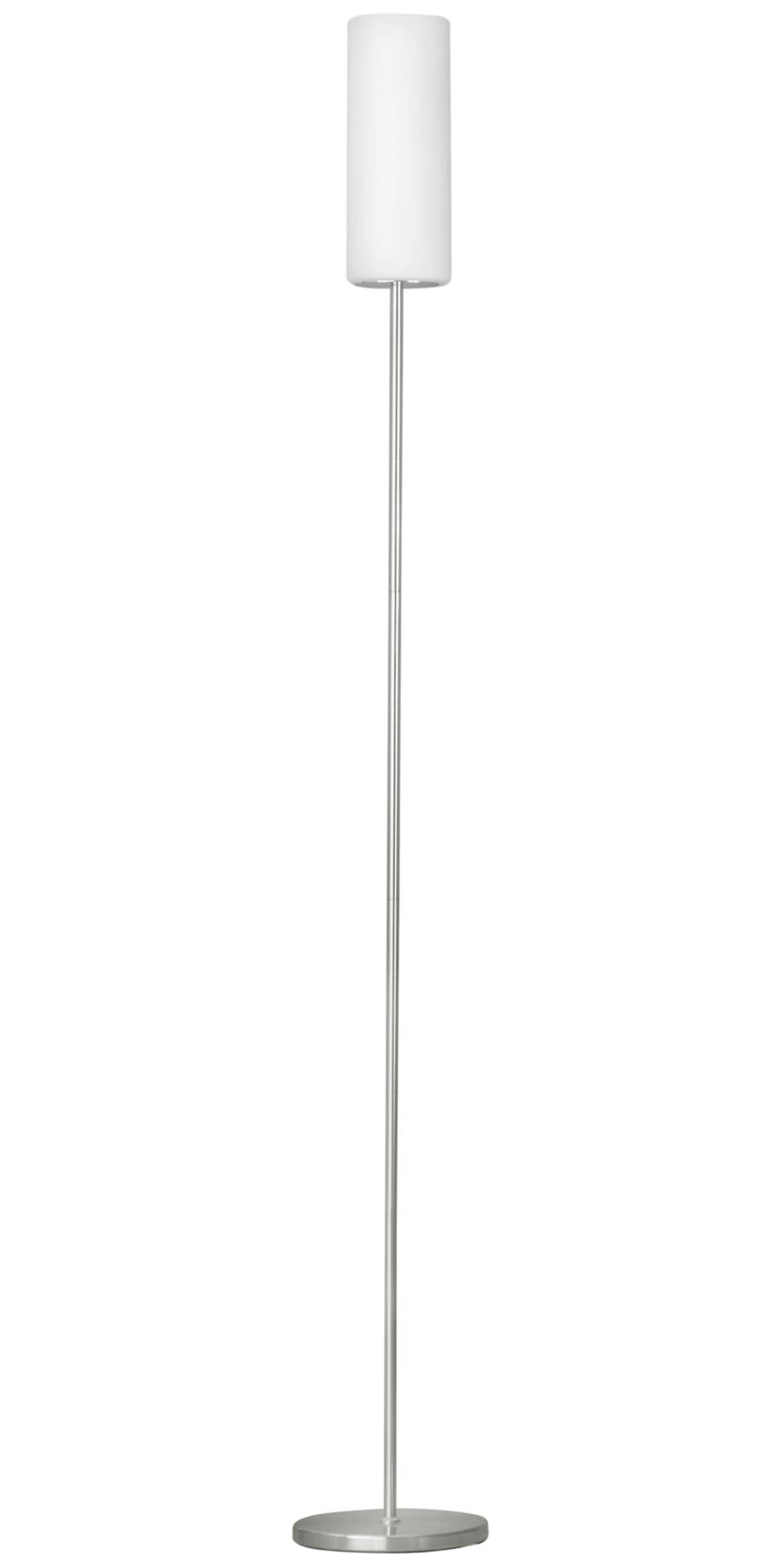 Troy 3 Floor Lamp 1 Light Coated White Glass Shade Foot-Switch