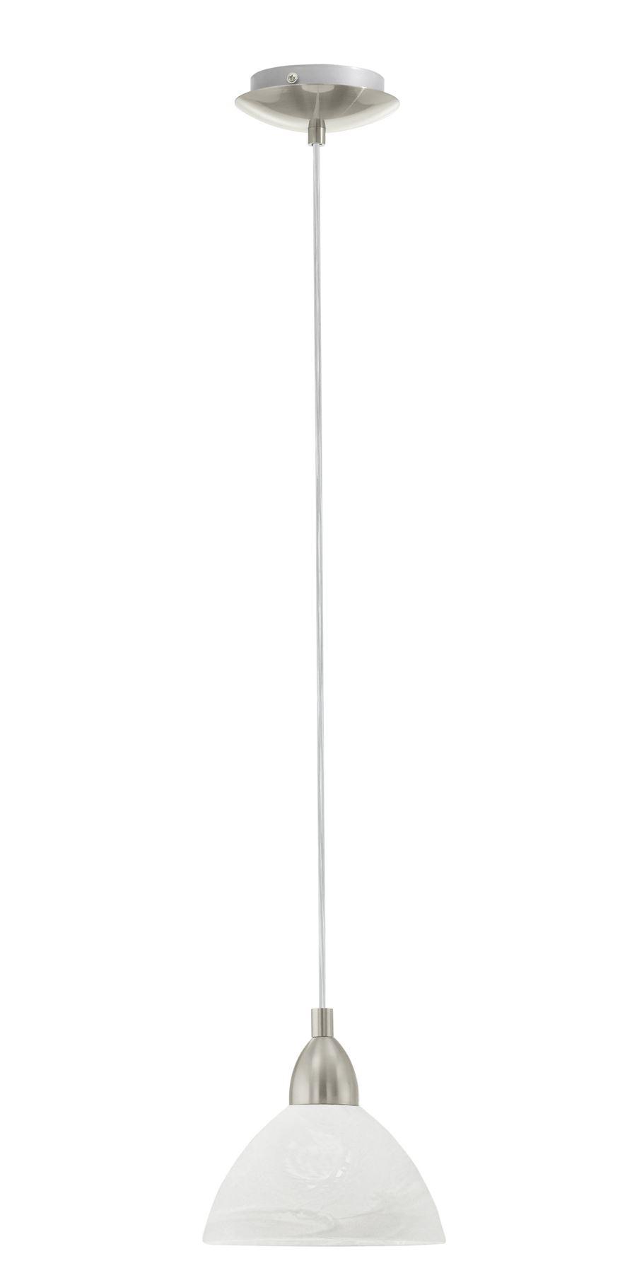 Brenda 1 Hanging Light E27 Alabaster Glass White Shade