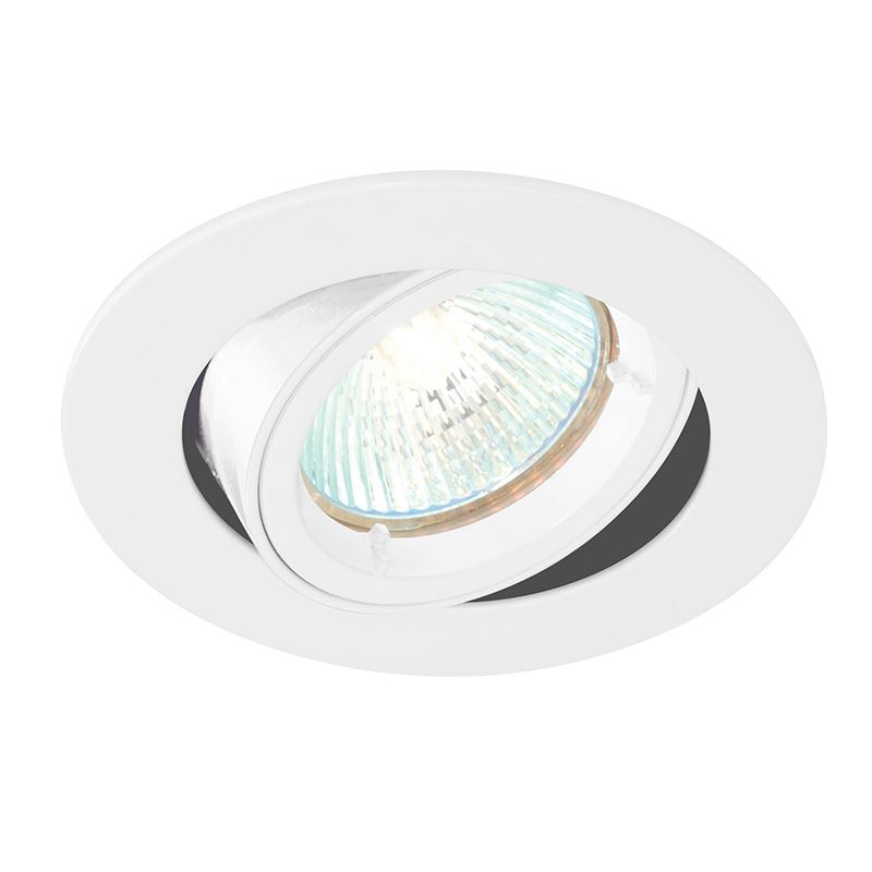 Cast tilt 50W recessed light gloss white paint