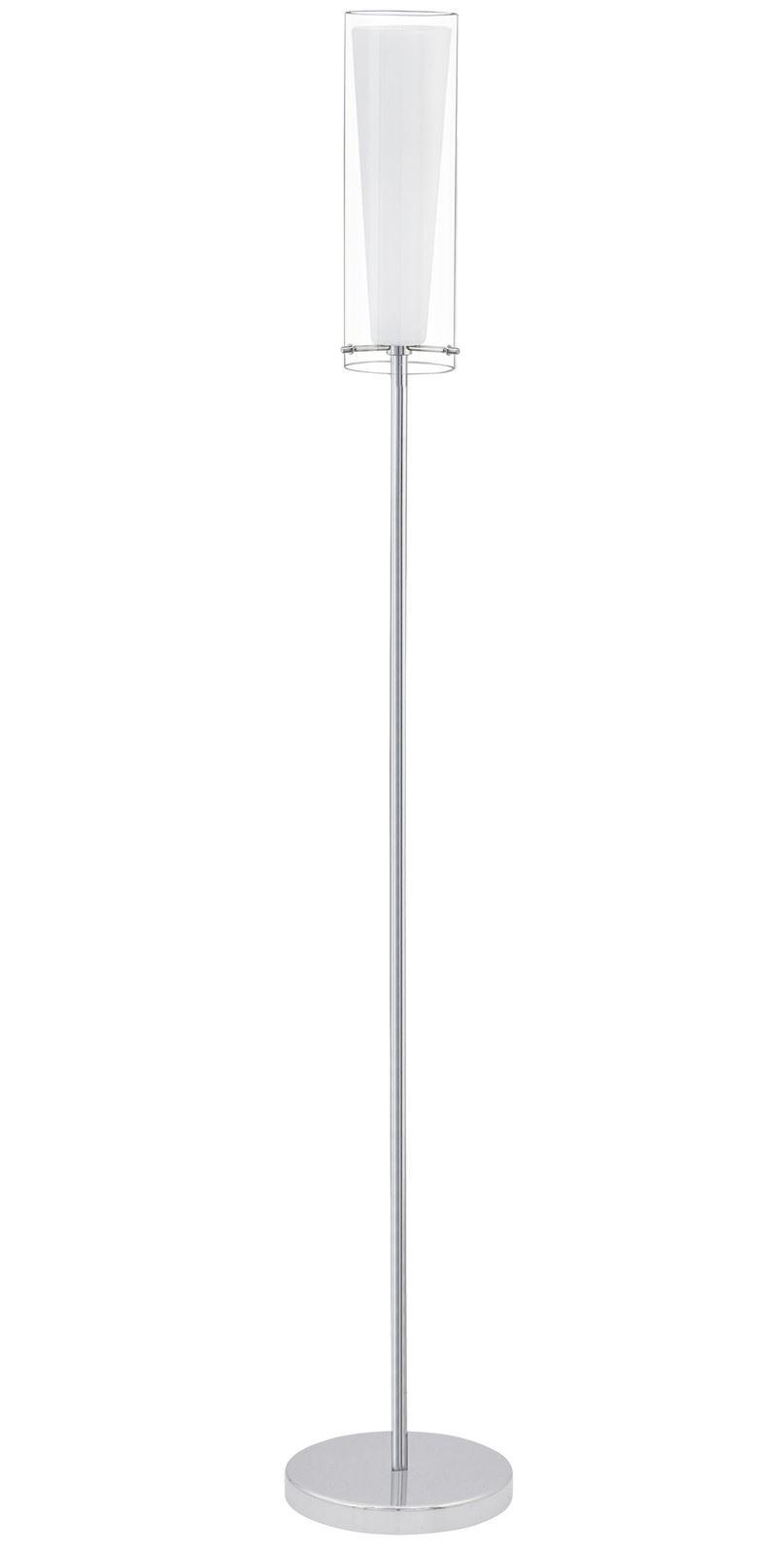 Pinto Floor Lamp 1 Light E27 Chrome Clear White