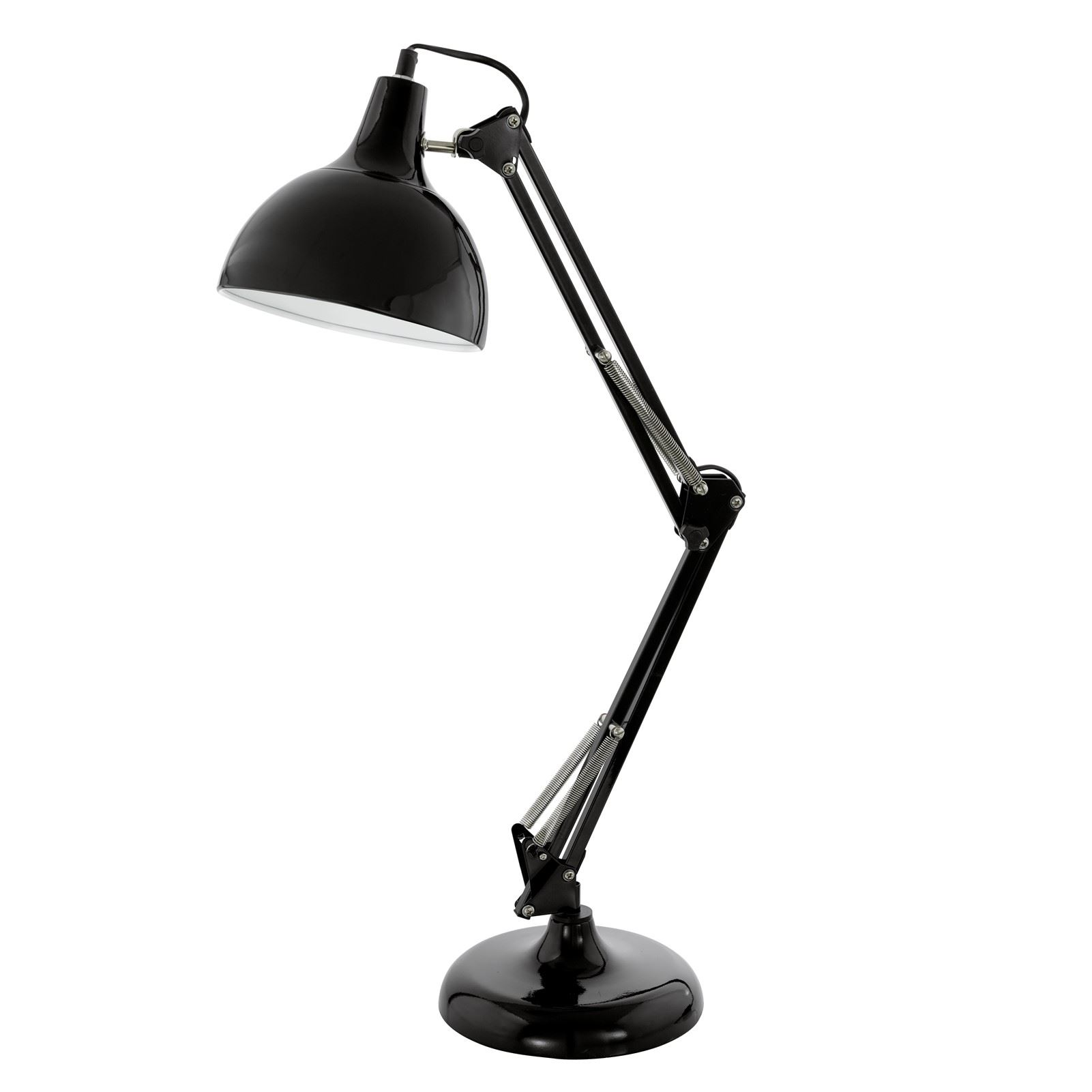 Borgillio Table Lamp 1 Light E27 Black