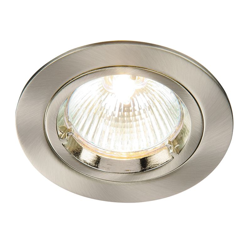 Cast fixed 50W recessed - satin nickel plate