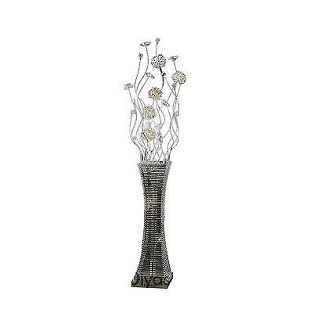 Majella Floor Lamp 7 Light Polished Chrome/Silver/Crystal