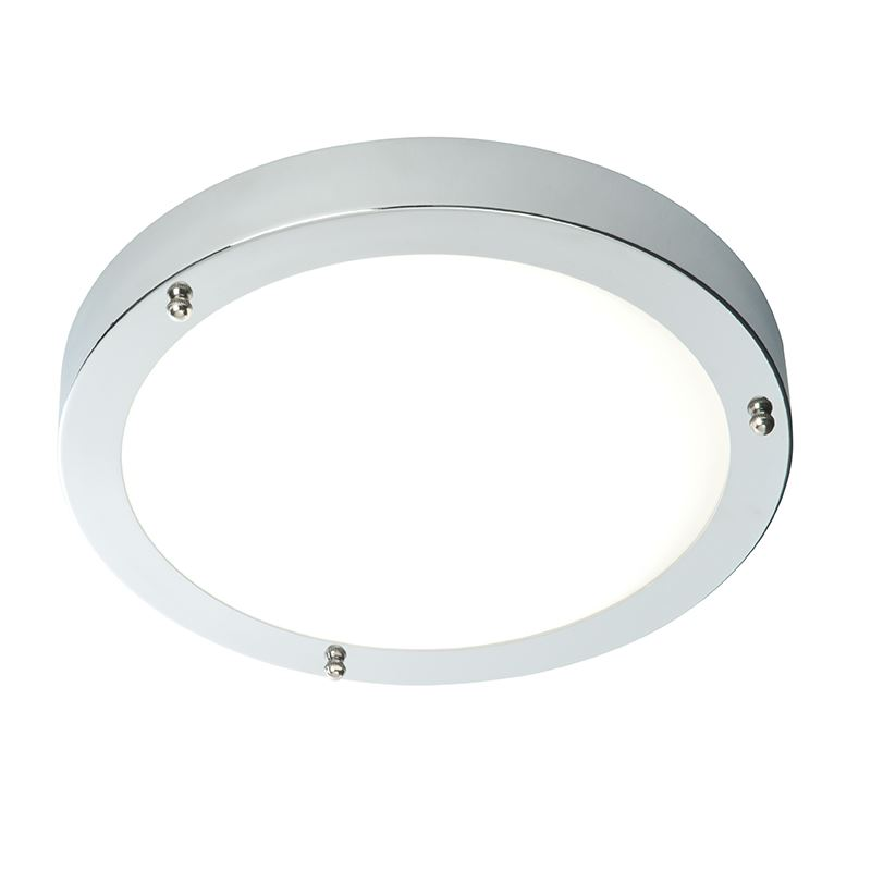 Portico Led Ip44 9W Natural White Flush Light Chrome Plate
