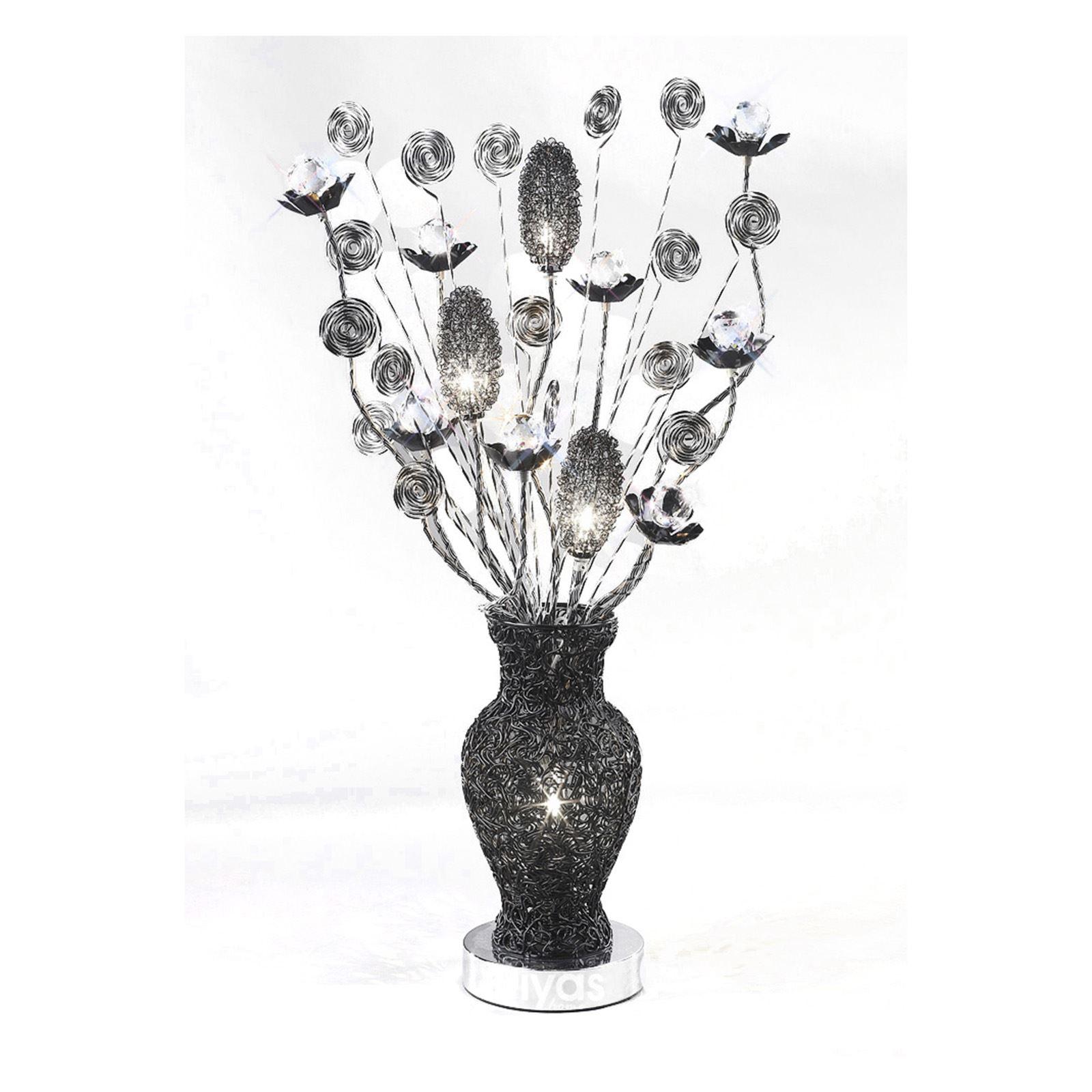 Designer 4 Light Black Table Lamp - Modern And Stylish Living Room Item