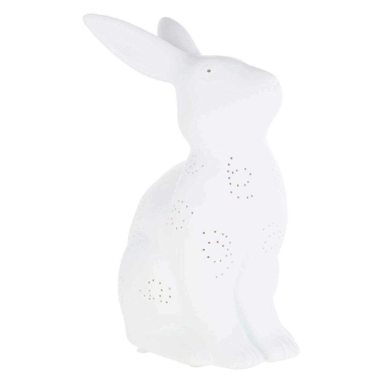 Kids Rabbit Night Light, Ceramic, White
