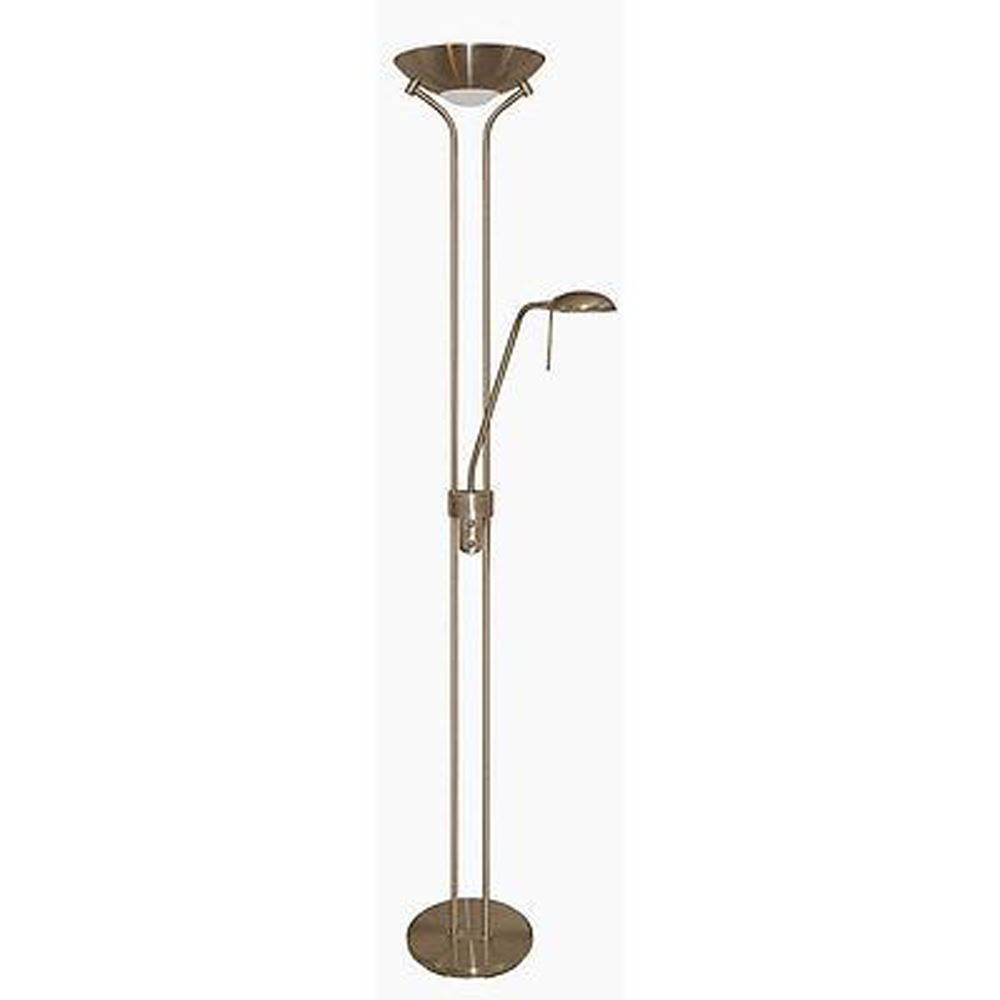 Mother & Child - Antique Brass Floor Lamp Double Dimmer