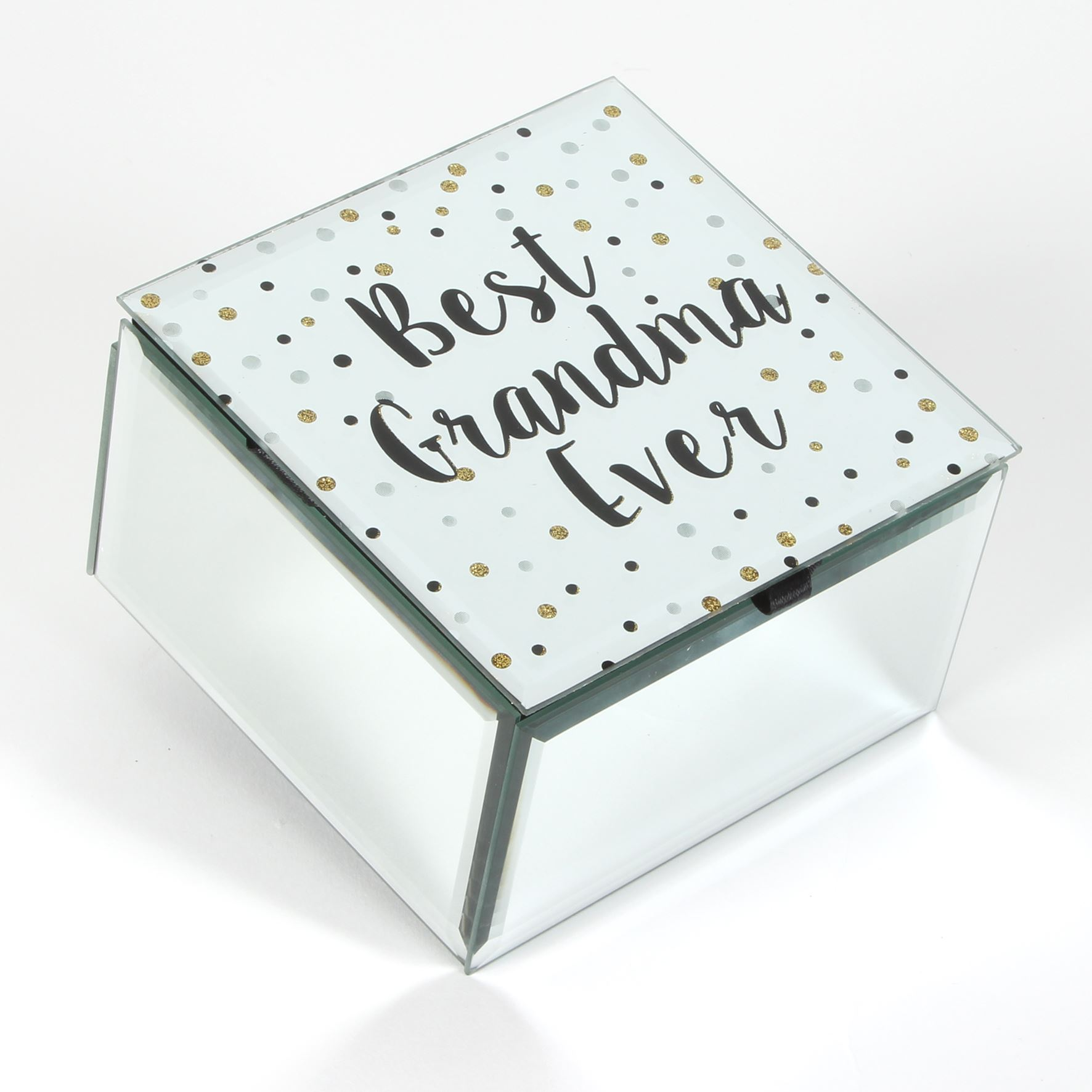 Celebrations Best Grandma Ever Glass Trinket Box