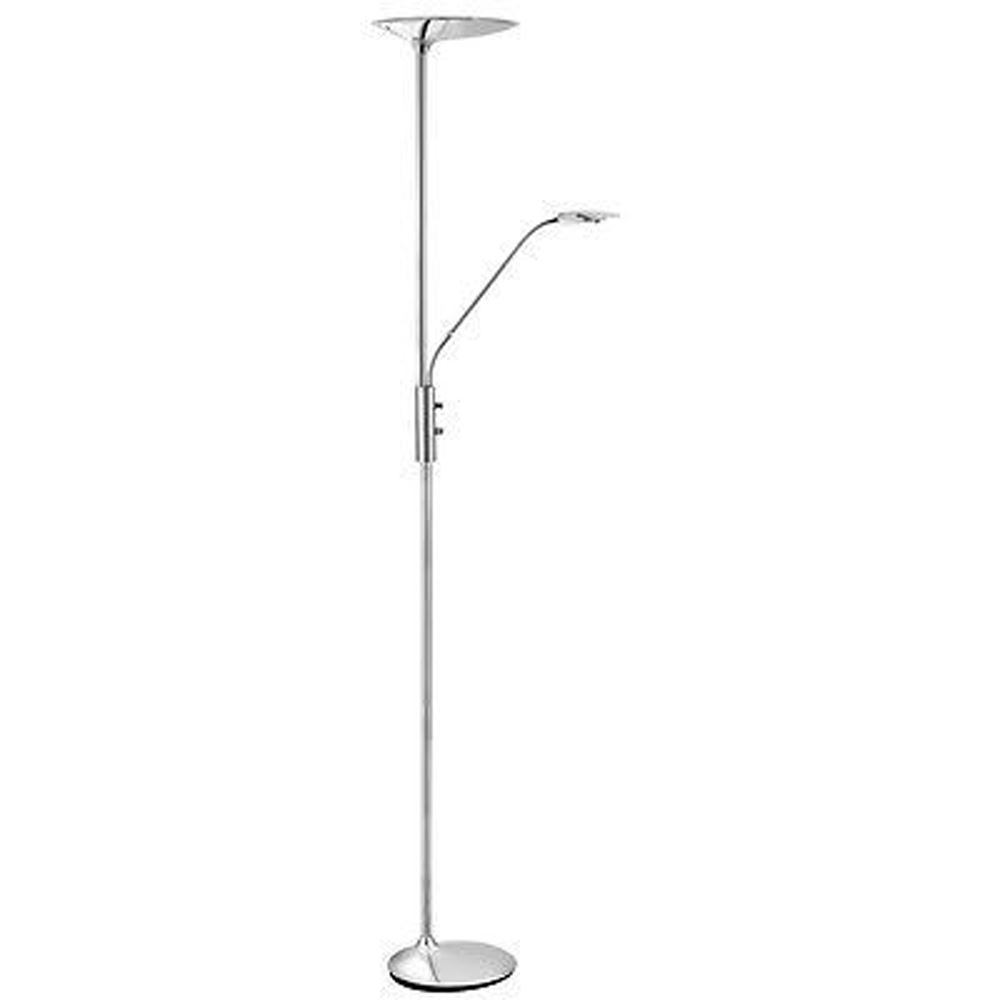 Led Floor Lamp Mother & Child Chrome 5W + 10W