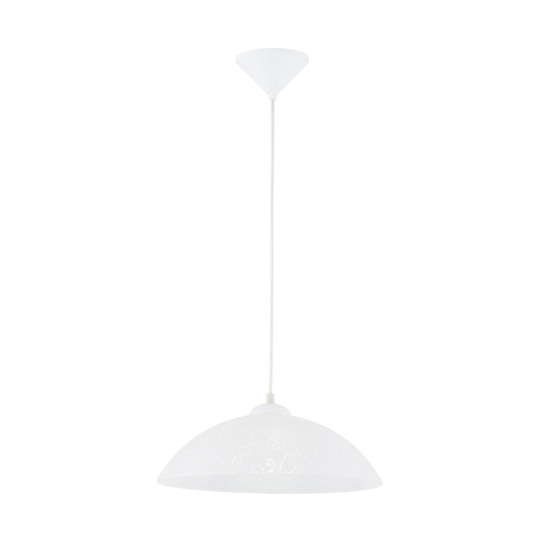 Vetro Decorative Plastic White 1 Hanging Light Structured Glass
