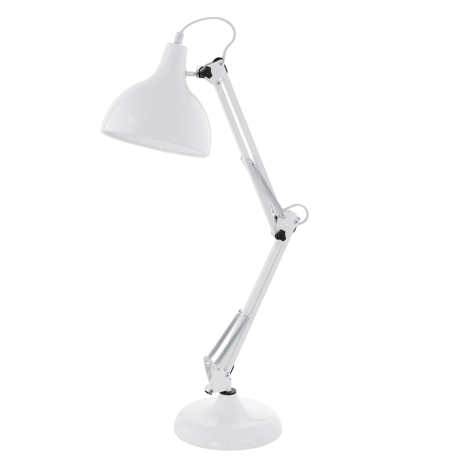 Borgillio Modern Style Steel White Table Lamp 1 Light E27