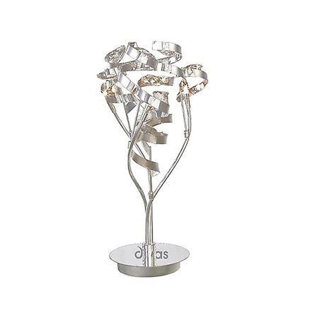 Decorative Bedside Table Lamp 3 Light Polished Chrome/Crystal