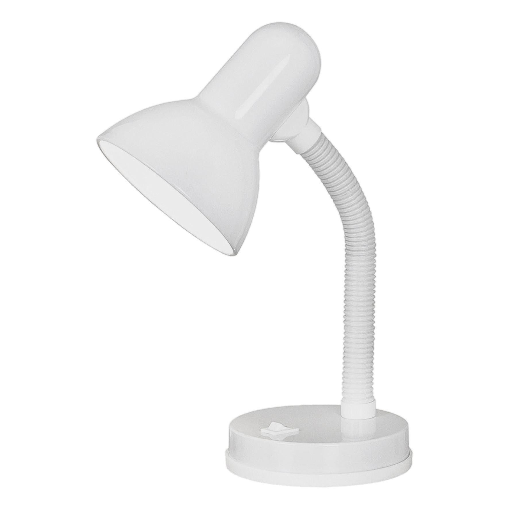 Basic Modern Table Lamp Flexible Rocker Switch - White