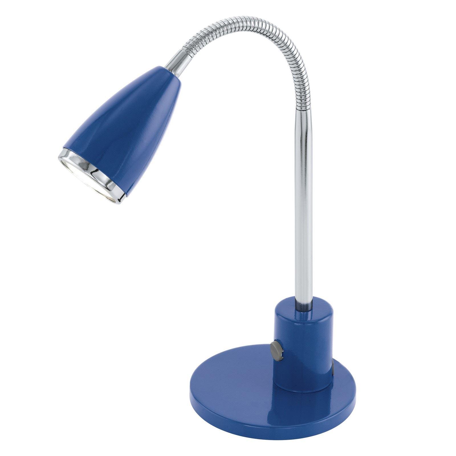 Fox Table Lamp 1 Light Gu10-Led Blue Chrome