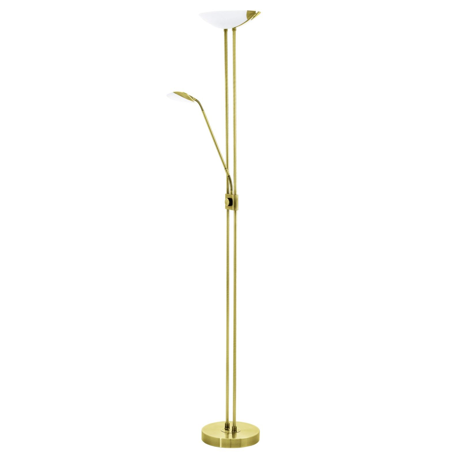 Baya Led Floor Lamp Working Reading Steel Brass
