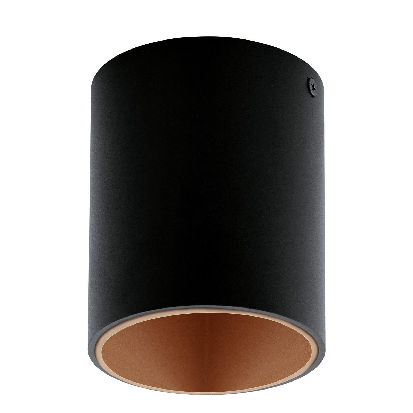 Led Ceiling Light Polasso Round Black And Copper
