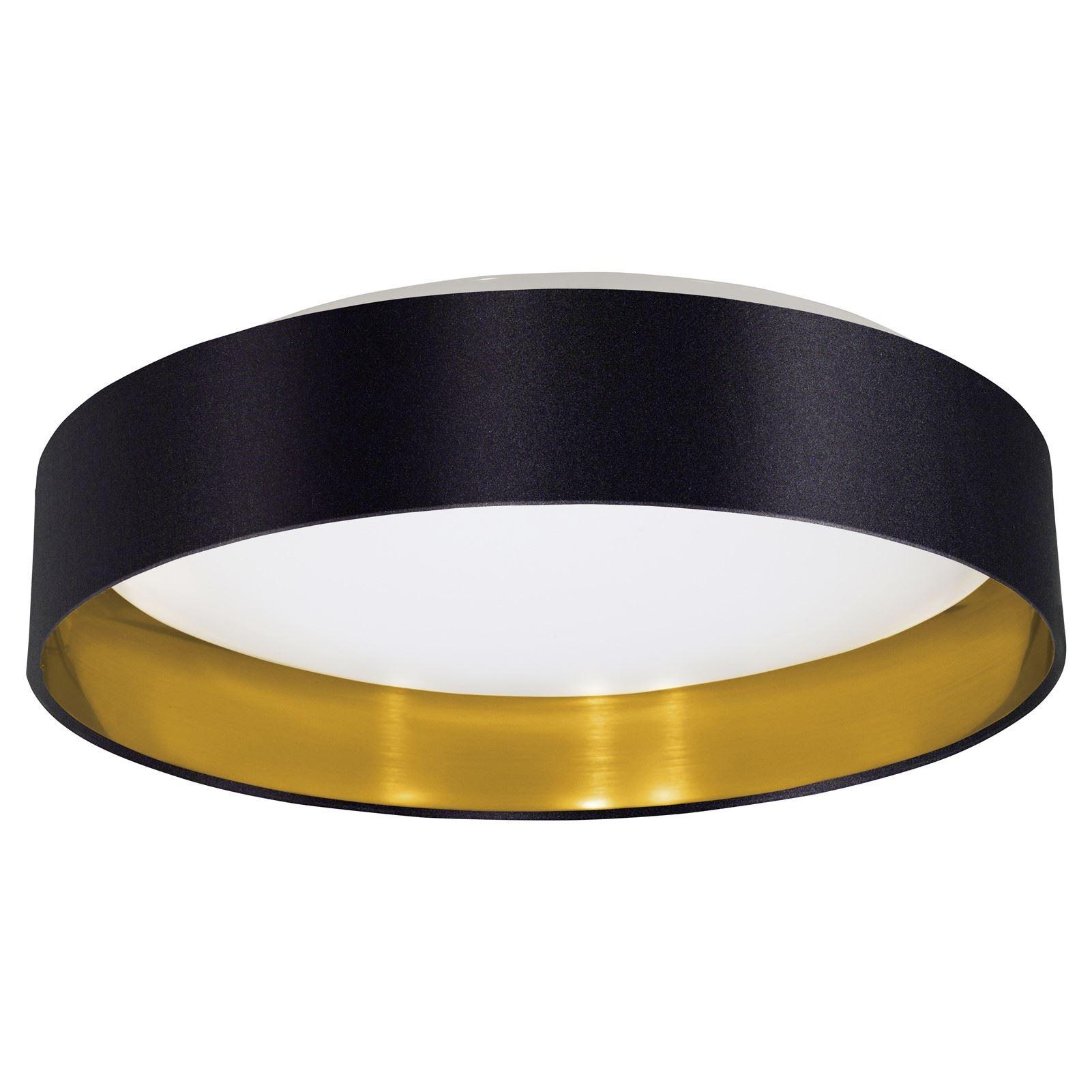 MASERLO LED Stylish Ceiling Light Plastic Steel Fabric Black Shade