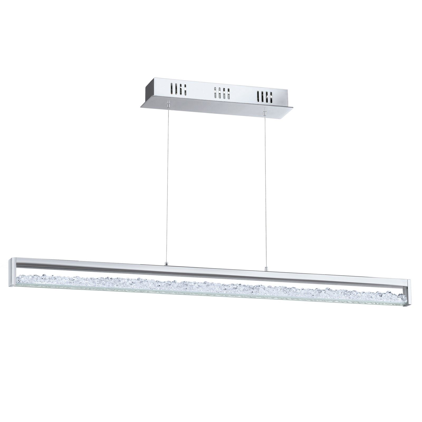 Cardito Led Hanging Light Touchdimmer Chrome Clear Crystal