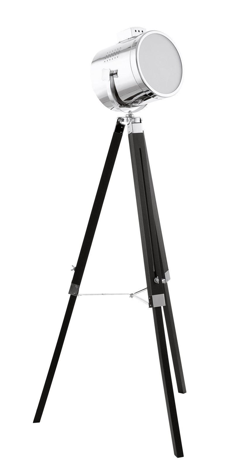 Upstreet Floor Lamp Steel 1 Light Black Chrome