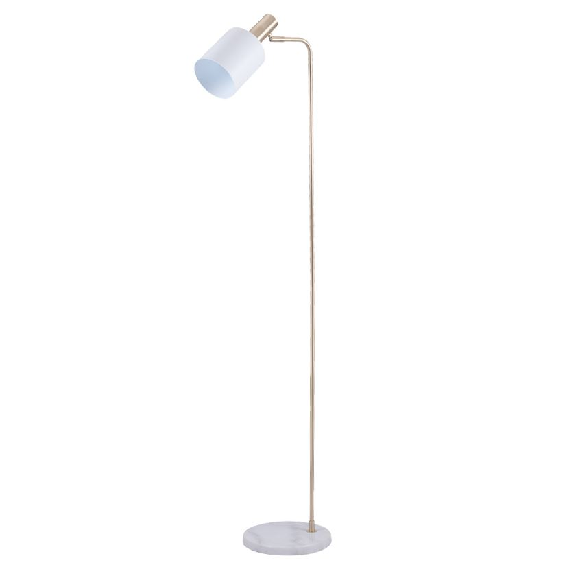 Marble Stylish Retro Floor Lamp Foot White & Gold Sleek Design
