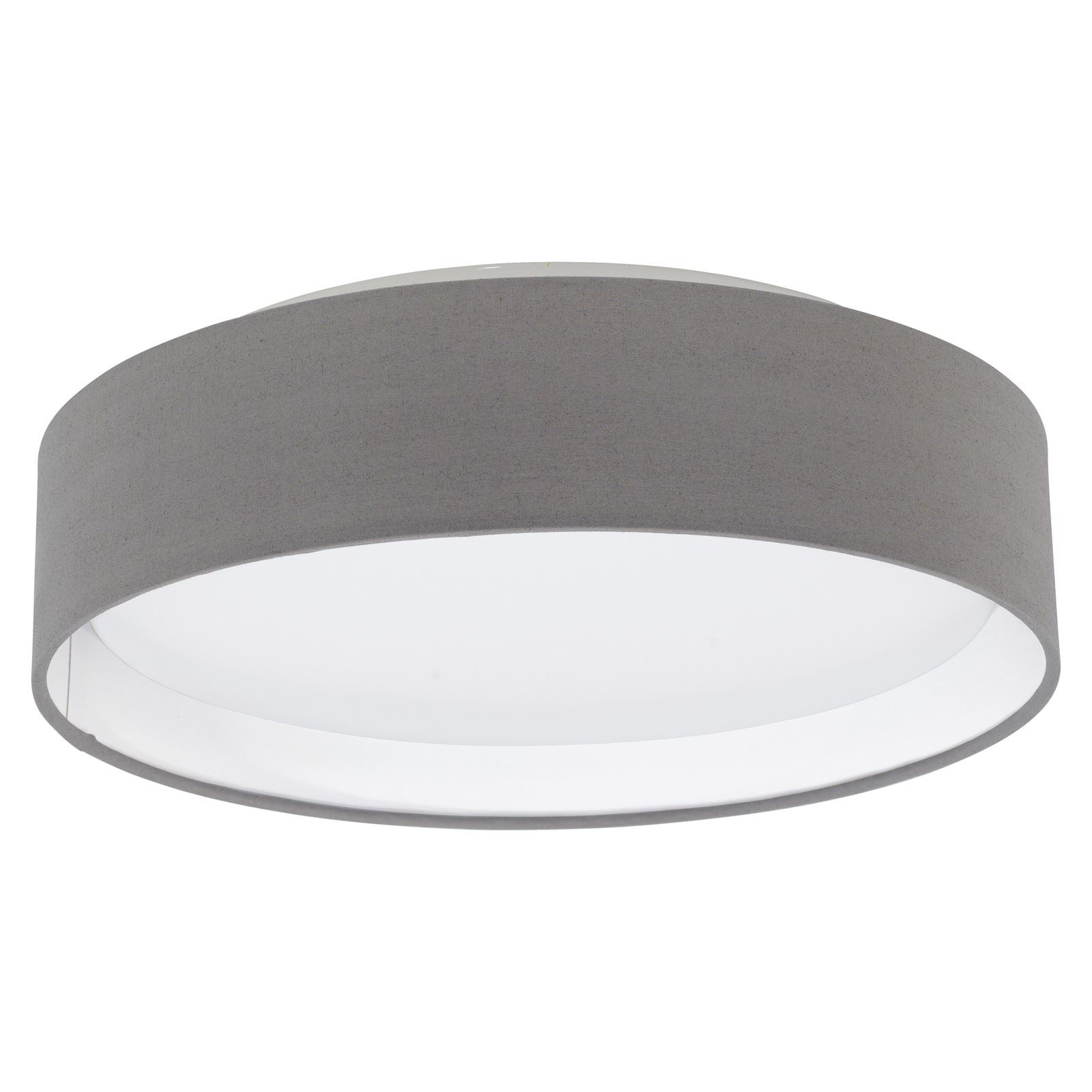 PASTERI LED Ceiling Light Plastic Steel Fabric Anthracite/Brown Shade
