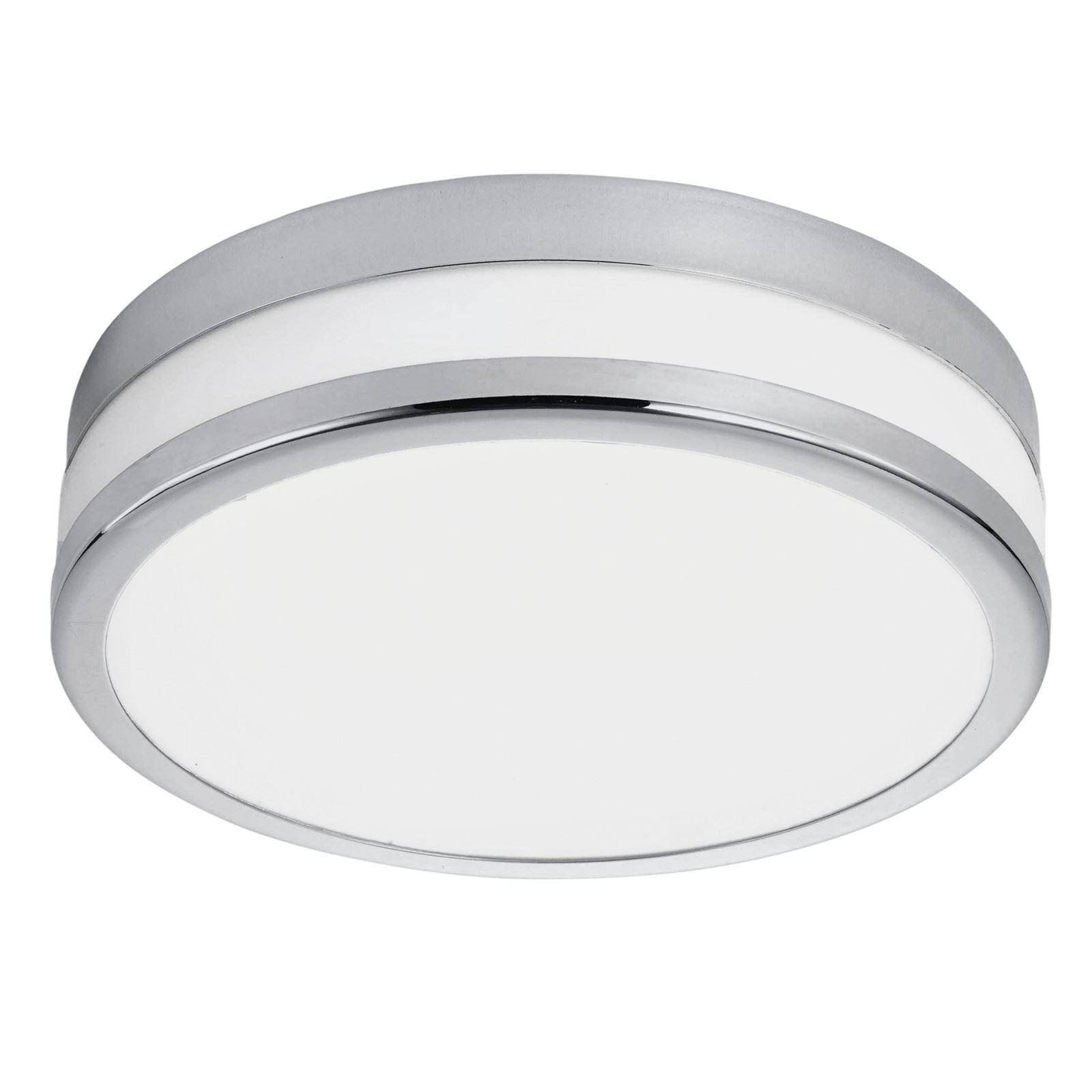 Palermo LED Ceiling Light Steel Chrome Coated White Shade Dia 225 mm