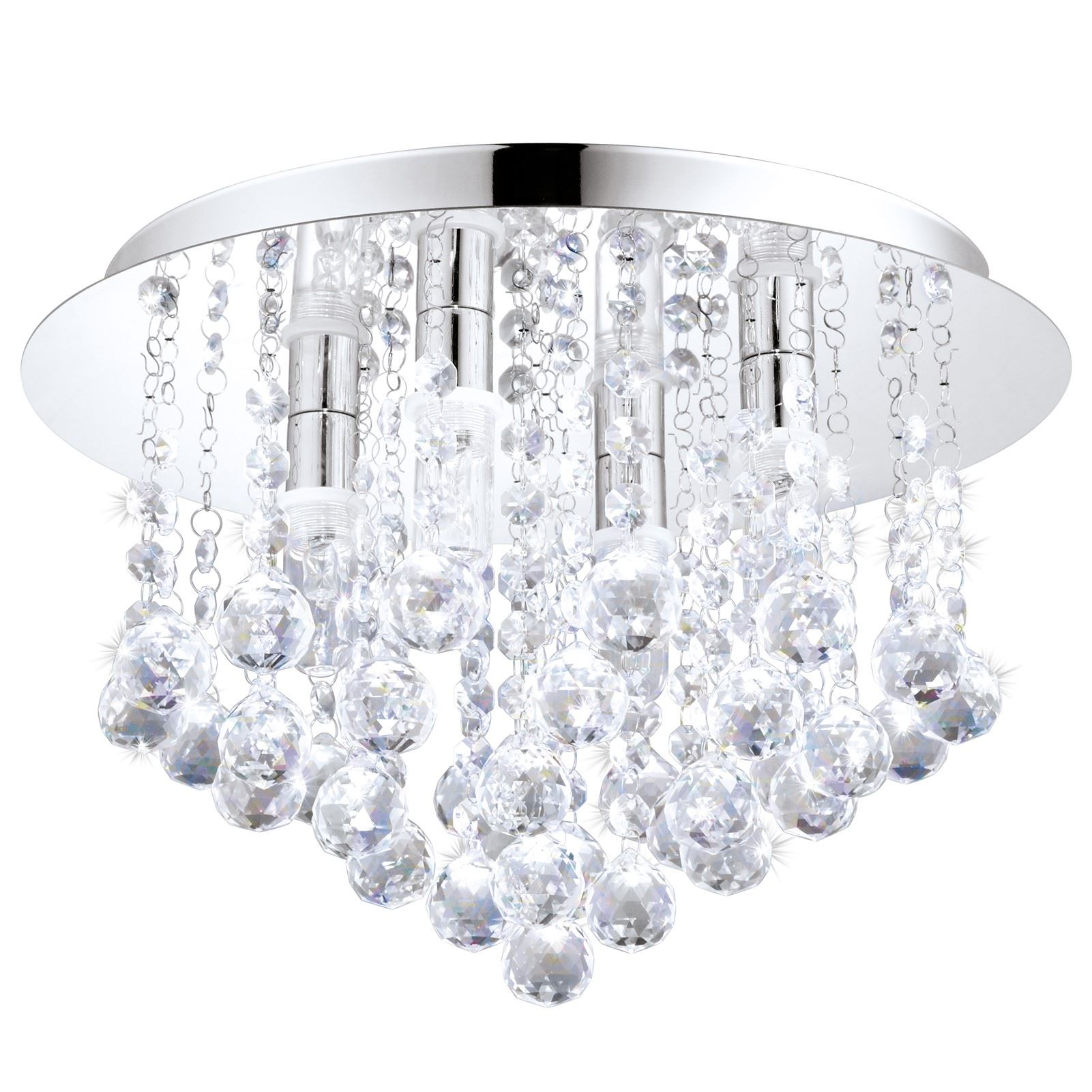 ALMONTE Decorative 4 Ceiling Light G9 Chrome Crystal